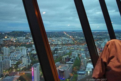 Abend vom Sky Tower, Auckland