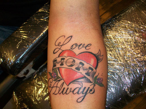 blacklinestudio Tattoo Love Mom Always