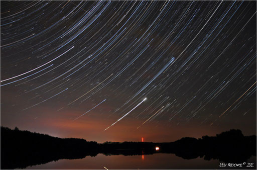 Star Trail over the Lake