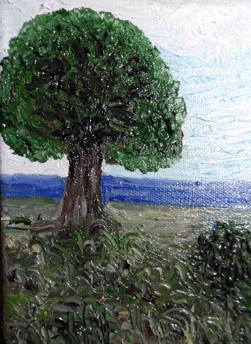 L'ASPETTO - 2011 olio su tela 13 x 18