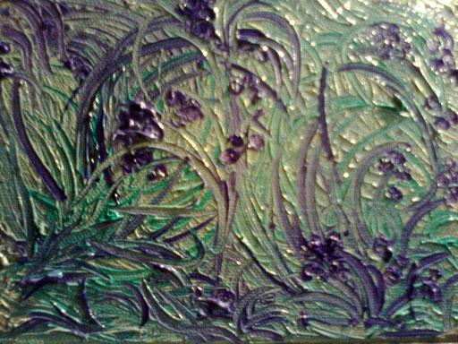 BACCHE - 2011 olio su tela 13 x 18