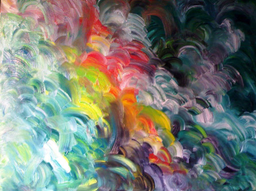 FONTANA MEDIOEVALE - 2010 olio su tela 100 x 120