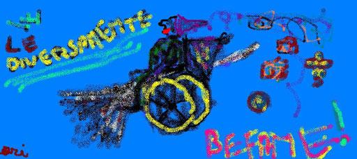 W LW DIVERSAMENTE BEFANE - 2011 - paint...