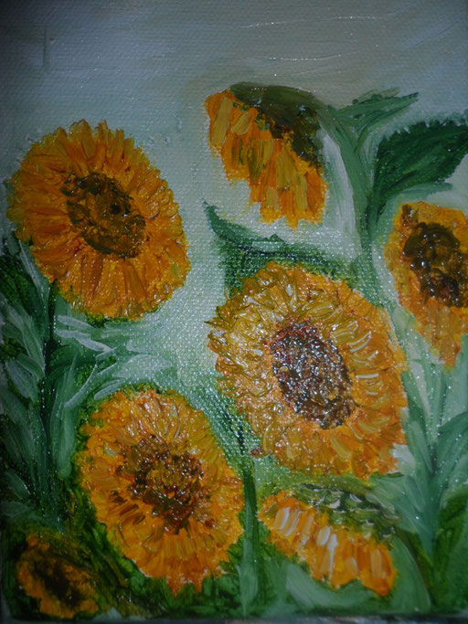 BACIATI DAL SOLE - 2011 olio su tela 13 x 18
