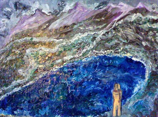 IL LAGO - 2010 olio su tela 45 x 75