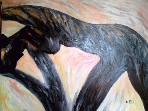 LA DONNA D'EBANO - 2009 olio su tela 80 x 100
