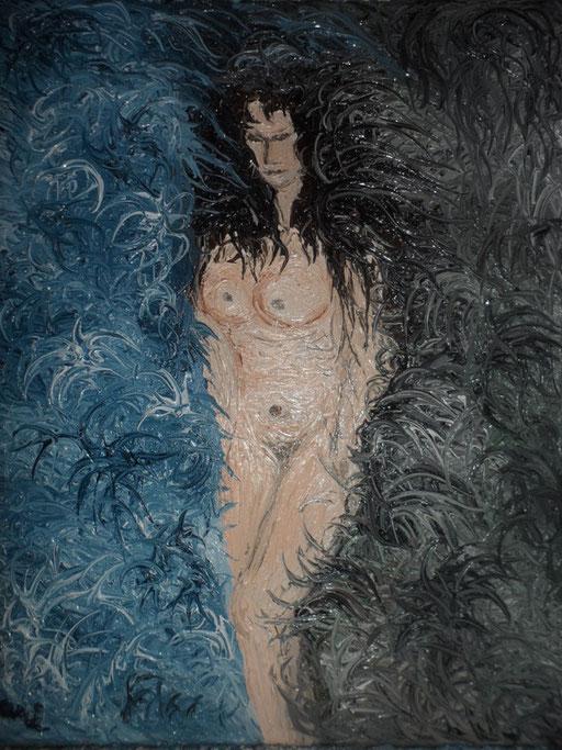 LA CREAZIONE DI ELENA - 2012  olio su tela 35 x 45
