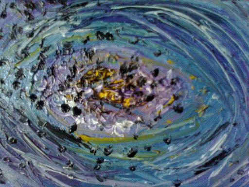 L'OCCHIO DISUBBIDIENTE - 2011 olio su tela 13 x 18