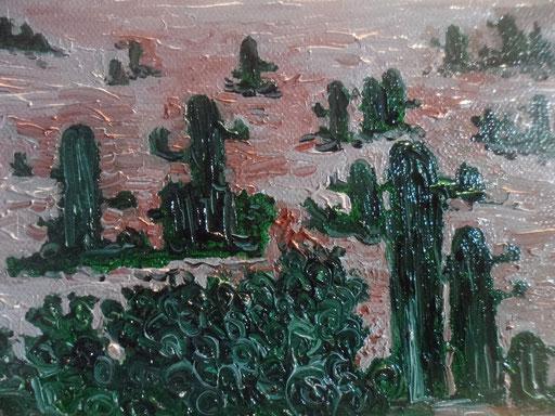 CACTUS E FICHI D'INDIA  - 2012 olio su tela 13 x 18
