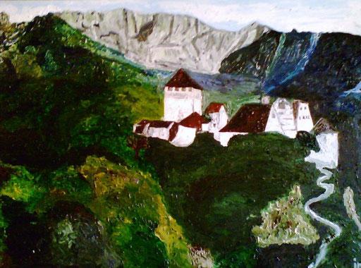 IL MONASTERO - olio su tela 2009 45 x 75
