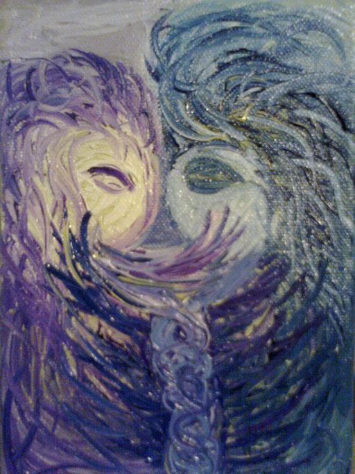 DNA - 2011 olio su tela 13 x 15