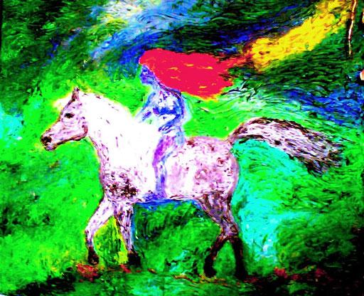 VENGO DA UN ALTRO PIANETA - 2009 olio su tela 34 x 43