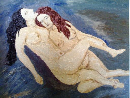 LA NOTTE DI LEI - 2008 olio su tela 45 x 75