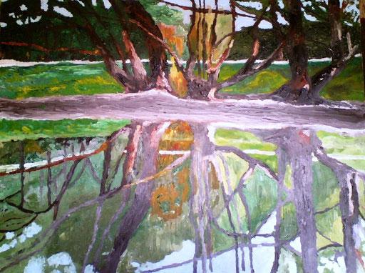 RIFLESSI - 2009 olio su tela 45 x 75