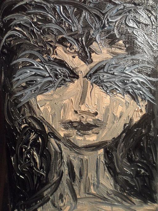 RITRATTO DI ELENA FERRI - 2012 olio su tela 13 x 18