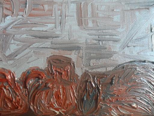IN CANTINA - 2011 olio su tela 13 x 18