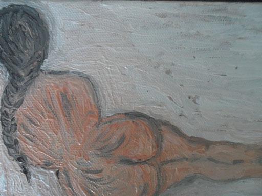 LA TRECCIA - 2011 0lio su tela 13 x 18