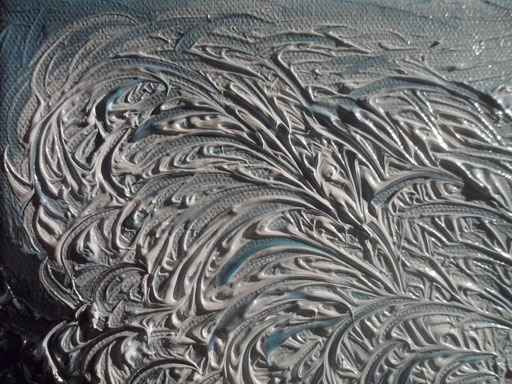 ONDA SU ONDA- 2012 olio su tela 13 x 18