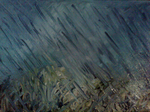 LE MANI DELLA PIOGGIA - 2011 olio su tela 13 x 18