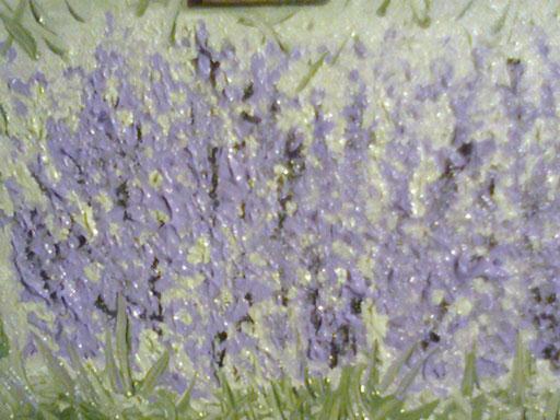 CESPUGLIO DI LAVANDA - 2011 olio su tela 13 x 18
