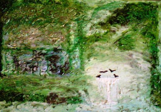 LA FONTANELLA - 2010 olio su tela 45 x 75