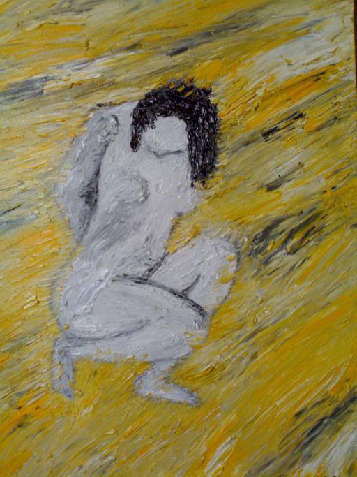 LA SOSTANZA DELL'INFINITO - 2008 olio su tela 35 x 45