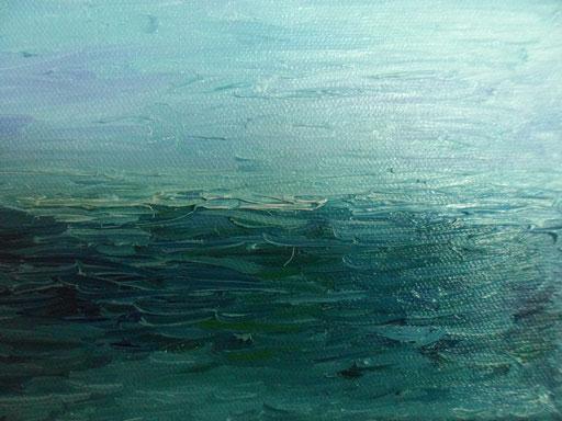 MARE MARE - 2012 olio su tela 3 x 18