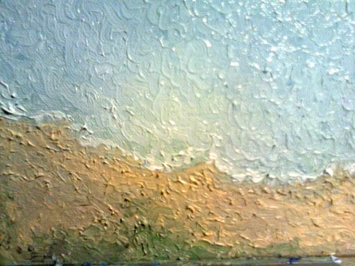 LA SPIAGGIA - 2011 olio su tela 13 x 18