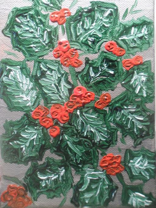 AGRIFOGLIO - 2011 olio su tela 13 x 18