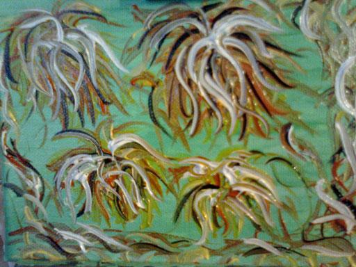 AMAZZONIA . 2011 olio su tela 23 x 18