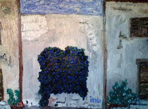 NEL VICOLO - 2010 olio su tela 25 x 35