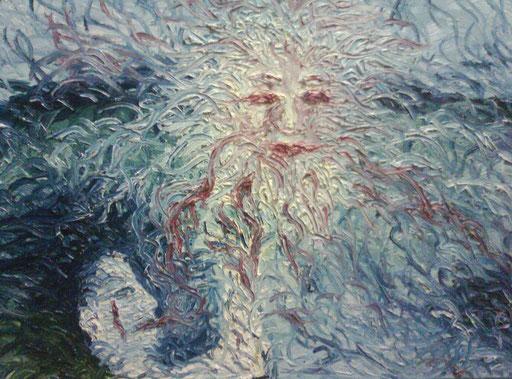 LACRIME DIVINE - 2011 olio su tela 45 x 75