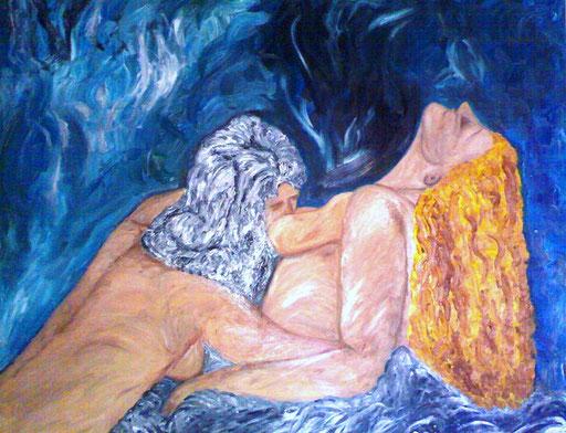 L'AMORE ETERNO - 2009 olio su tela 80 x 100