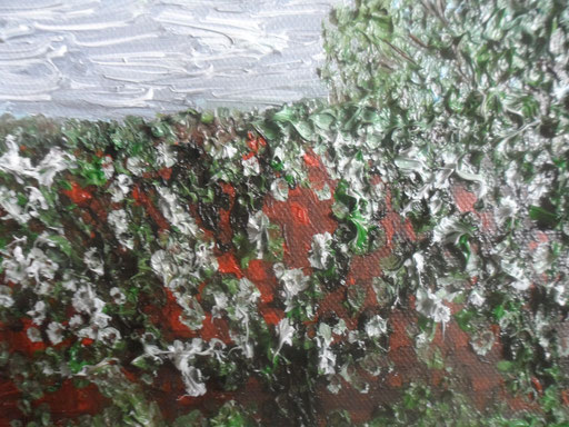 IL MURO - 2011 olio su tela 13 x 18