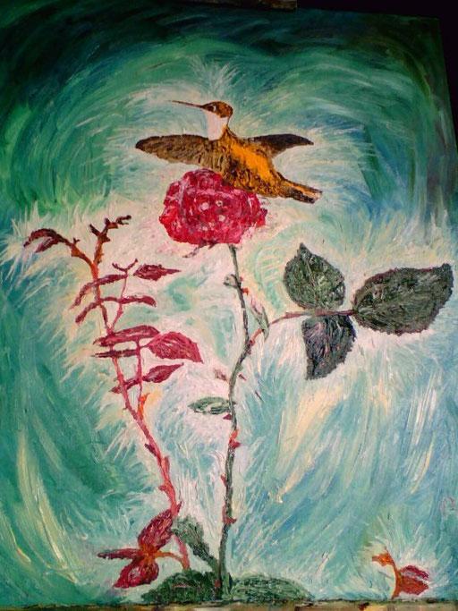 LEGGIADRIA  - 2009 olio su tela 35 x 45
