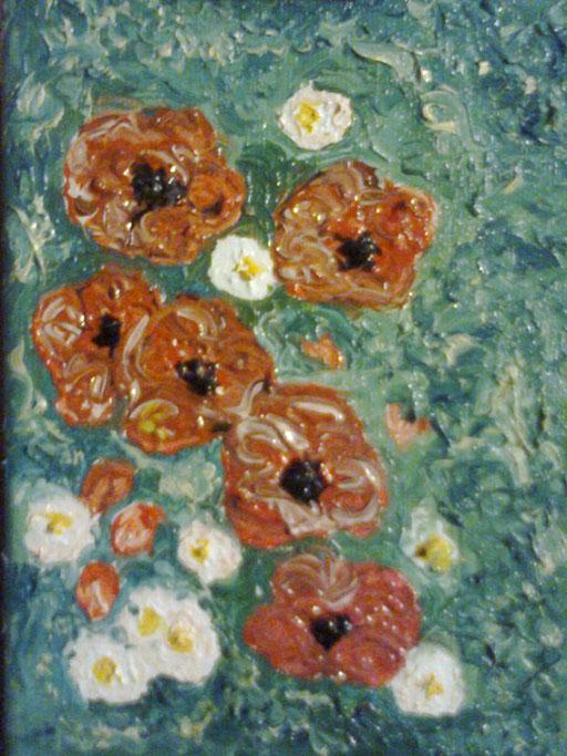 PAPAVERI E MARGHERITE - 2012 olio su tela 13 x 18