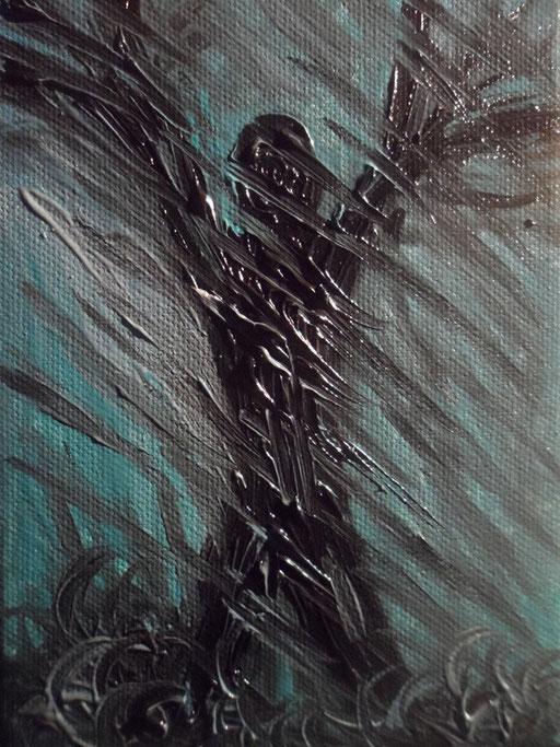 DOVE SIGNORI NON SONO - 2012 olio su tela 13 x 18