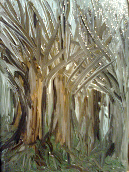 PERDERSI NEL BOSCO - 2011 olio su tela 13 x 18