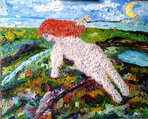 LEGGEREZZA - 2009 O olio su tela 35 x 45