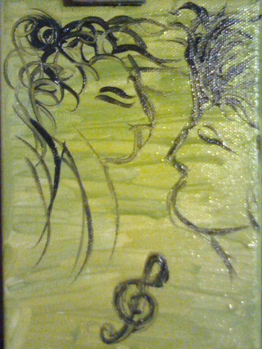 INNAMORARSI - 2011 olio su tela 13 x 18