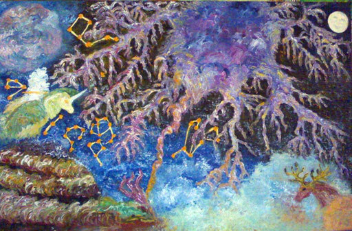 NATA COSI' - 2011 olio su tela 100 x 120