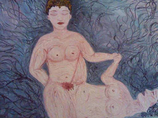 AMORE TANTRICO - 2011 olio su tela 45 x 75