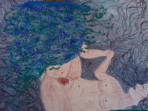 rielaborazione paint di AMORE TANTRICO - 2011 olio su tela 45 x 75