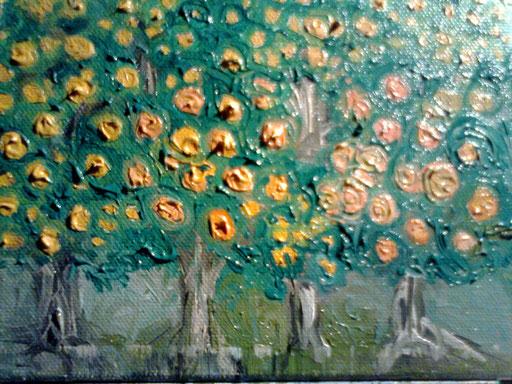 AGRUMETO - 2011 olio su tela 13 x 18