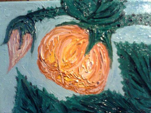 OLD ROSE - 2011 olio su tela 13 x 18