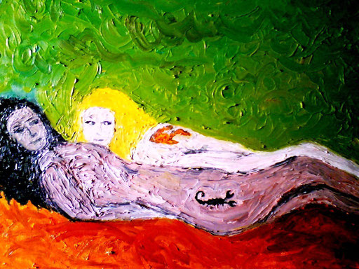 SCORPIONI E PESCI- 2009 olio su tela 35 x 45