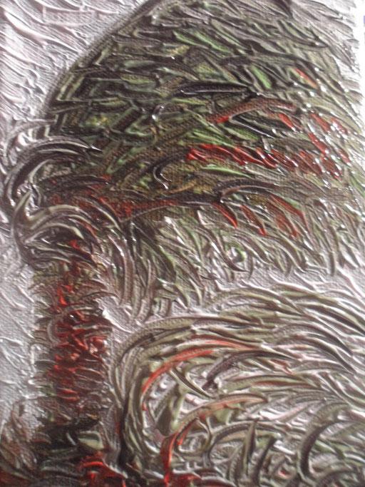 IL VENTO E LA PALMA - 2011 olio su tela 13 x 18