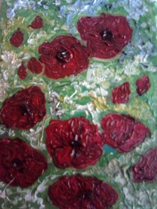 PAPAVERPAPAVERI  - 2012 olio su tela 13 x 18