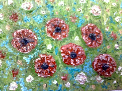 GIUGNO NEL PRATO - 2011 olio su tela 13 x 18