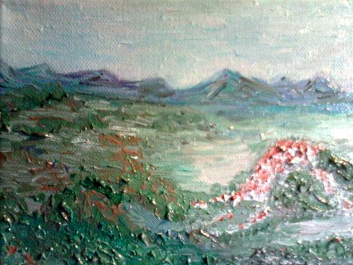 NEBBIA NELLA VALLE - 2011 olio su tela 13 x 18
